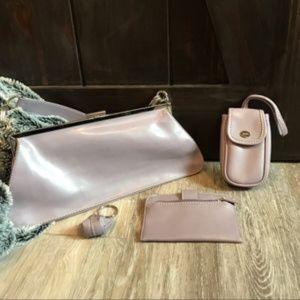 Lilac coloured Nine West clutch, coin purse, bags